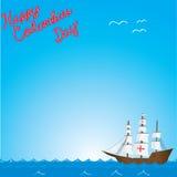 Ευτυχής ημέρα του Columbus Στοκ εικόνες με δικαίωμα ελεύθερης χρήσης