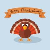 Ευτυχής ημέρα των ευχαριστιών με την Τουρκία Στοκ Εικόνες