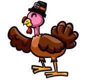 Ευτυχής ημέρα των ευχαριστιών Τουρκία που κυματίζει γεια διανυσματική απεικόνιση