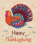 ευτυχής ημέρα των ευχαριστιών Τουρκία ριγωτό διάνυσμα prelambulator καρτών ανασκόπησης Στοκ φωτογραφία με δικαίωμα ελεύθερης χρήσης