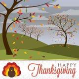 Ευτυχής ημέρα των ευχαριστιών! ελεύθερη απεικόνιση δικαιώματος