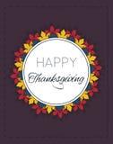 Ευτυχής ημέρα των ευχαριστιών logotype Στοκ Εικόνα