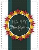 Ευτυχής ημέρα των ευχαριστιών logotype Στοκ Εικόνες