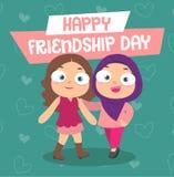 Ευτυχής ημέρα φιλίας ελεύθερη απεικόνιση δικαιώματος