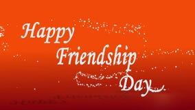 Ευτυχής ημέρα φιλίας που επιθυμεί το συνδετήρα διανυσματική απεικόνιση
