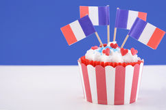 Ευτυχής ημέρα Bastille cupcake Στοκ φωτογραφίες με δικαίωμα ελεύθερης χρήσης
