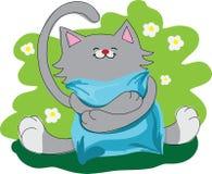 Ευτυχής διασκεδάζοντας γάτα Στοκ Εικόνες