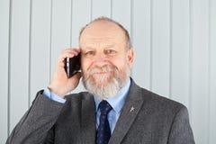 Ευτυχής διευθυντής στο τηλέφωνο Στοκ φωτογραφίες με δικαίωμα ελεύθερης χρήσης