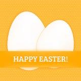 Ευτυχής κάρτα αυγών Πάσχας Στοκ εικόνα με δικαίωμα ελεύθερης χρήσης