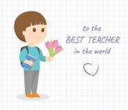 Ευτυχής κάρτα ημέρας δασκάλων Στοκ εικόνα με δικαίωμα ελεύθερης χρήσης