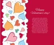 Ευτυχής κάρτα ημέρας βαλεντίνων. απεικόνιση αποθεμάτων