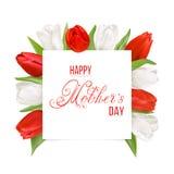 Ευτυχής κάρτα ημέρας μητέρων s Στοκ Εικόνες