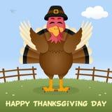 Ευτυχής κάρτα ημέρας των ευχαριστιών της Τουρκίας Στοκ Εικόνα