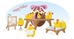 Ευτυχής κάρτα Πάσχας απεικόνιση αποθεμάτων