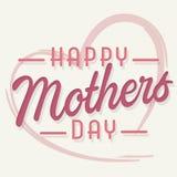 Ευτυχής κάρτα τέχνης ημέρας μητέρων με το ροζ καρδιών Στοκ Φωτογραφία