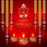 Ευτυχής κάρτα φεστιβάλ Diwali Στοκ εικόνες με δικαίωμα ελεύθερης χρήσης