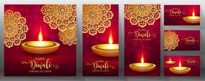 Ευτυχής κάρτα φεστιβάλ Diwali στοκ εικόνες