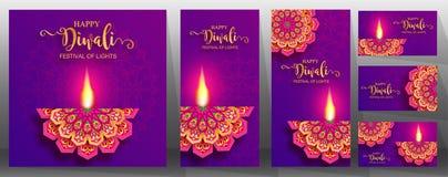 Ευτυχής κάρτα φεστιβάλ Diwali στοκ φωτογραφία με δικαίωμα ελεύθερης χρήσης