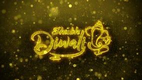 Ευτυχής κάρτα χαιρετισμών επιθυμιών diwali Shubh, πρόσκληση, πυροτέχνημα εορτασμού ελεύθερη απεικόνιση δικαιώματος
