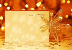 Ευτυχής κάρτα Χριστουγέννων Στοκ Φωτογραφία