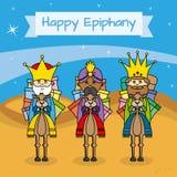 Ευτυχής κάρτα Epiphany απεικόνιση αποθεμάτων