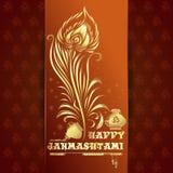 Ευτυχής κάρτα Krishna Janmashtami Στοκ Φωτογραφίες