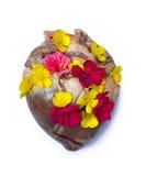 Ευτυχής καρδιά λουλουδιών Στοκ Φωτογραφίες
