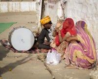 Ευτυχής καλυμμένη ινδική γυναίκα. Στοκ φωτογραφίες με δικαίωμα ελεύθερης χρήσης