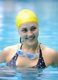 Ευτυχής κολυμβητής Στοκ εικόνα με δικαίωμα ελεύθερης χρήσης