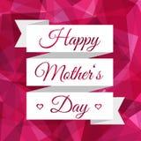 Ευτυχής κορδέλλα ημέρας μητέρων Εκλεκτής ποιότητας διακοσμητική ανασκόπηση Ελεύθερη απεικόνιση δικαιώματος