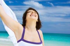 ευτυχής λευκή γυναίκα &sigm Στοκ εικόνα με δικαίωμα ελεύθερης χρήσης