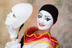 Ευτυχής μάσκα προσώπου Στοκ φωτογραφία με δικαίωμα ελεύθερης χρήσης