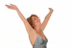 Ευτυχής μέση ηλικίας γυναίκα Στοκ Εικόνα