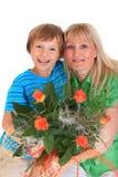 ευτυχής μητέρα αγοριών Στοκ εικόνες με δικαίωμα ελεύθερης χρήσης