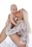 ευτυχής μητέρα μωρών στοκ εικόνες με δικαίωμα ελεύθερης χρήσης