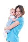 ευτυχής μητέρα παλαιά τρία μήνα μωρών Στοκ φωτογραφίες με δικαίωμα ελεύθερης χρήσης