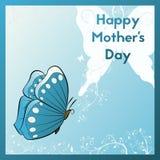 ευτυχής μητέρα s ημέρας Κάρτα Ε για το mom σας Στοκ Εικόνες