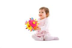ευτυχής μωρών που απομονώνεται Στοκ Εικόνες