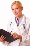 Ευτυχής νέα γυναίκα γιατρών Στοκ φωτογραφίες με δικαίωμα ελεύθερης χρήσης