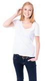 Ευτυχής νέα γυναίκα σπουδαστής Στοκ εικόνα με δικαίωμα ελεύθερης χρήσης