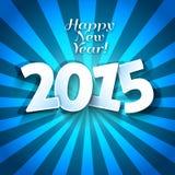 Ευτυχής νέα ευχετήρια κάρτα ετών 2015 Στοκ Εικόνες