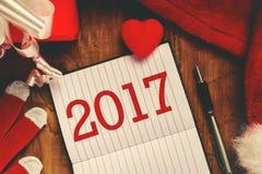 Ευτυχής νέα σημείωση έτους του 2017 Στοκ Εικόνες