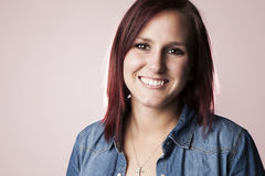 Ευτυχής νέα Redhead γυναίκα Στοκ εικόνα με δικαίωμα ελεύθερης χρήσης