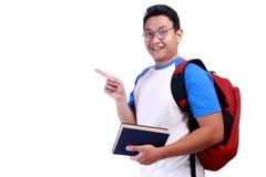 Ευτυχής νέος ασιατικός άνδρας σπουδαστής Στοκ Εικόνες
