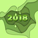 Ευτυχής νέος εορτασμός ετών 2018 Ελεύθερη απεικόνιση δικαιώματος