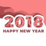 Ευτυχής νέος εορτασμός ετών 2018 Διανυσματική απεικόνιση