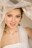 Ευτυχής νύφη στοκ φωτογραφίες με δικαίωμα ελεύθερης χρήσης