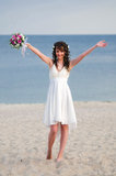 Ευτυχής νύφη Στοκ Φωτογραφία