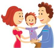 Ευτυχής οικογένεια. Στοκ εικόνα με δικαίωμα ελεύθερης χρήσης