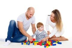Ευτυχής οικογένεια με το μωρό Στοκ εικόνες με δικαίωμα ελεύθερης χρήσης